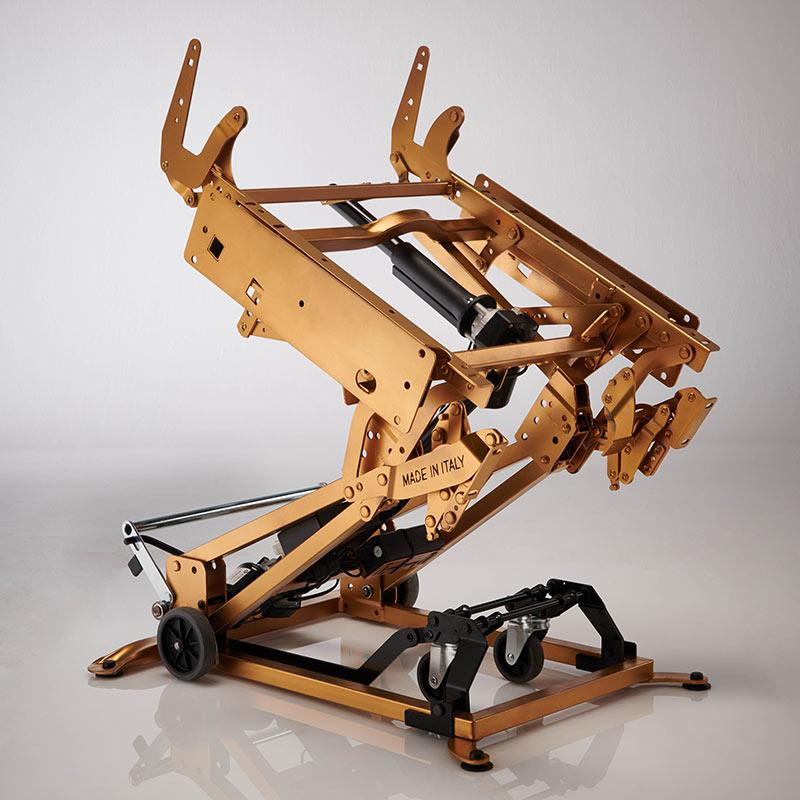 telaio e meccanica poltrona lucrezia gold